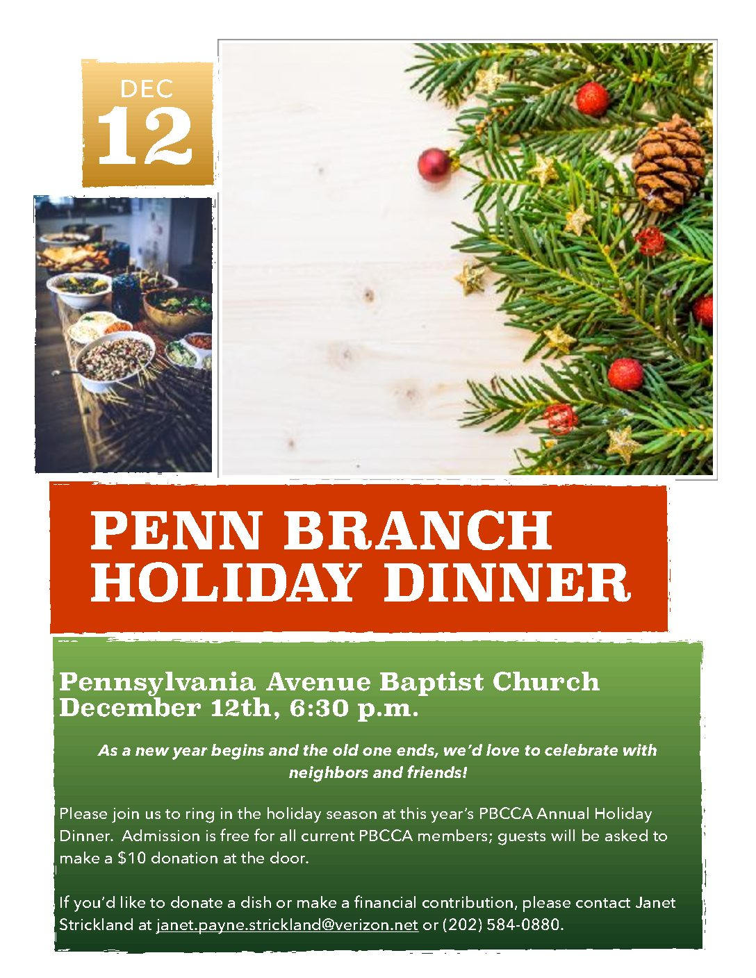 Penn Branch Annual Holiday Dinner and Membership Drive