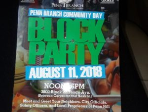 Penn Branch Community Block Party – Sat. August 11